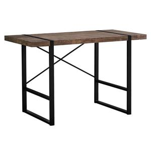 Monarch Computer Desk - Brown Reclaimed Wood and Black Metal - 48-in