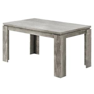 Table de salle à manger Monarch, imitation bois gris, 36 po X 60 po