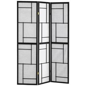 Monarch Folding Screen - 3 Panel - Black Frame