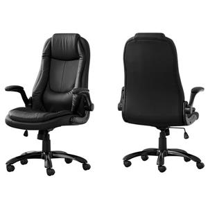 Monarch Executive Office Chair - Black Leather Look - High Back