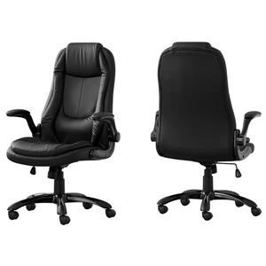 Chaise de bureau exécutive Monarch, dossier haut, similicuir noir