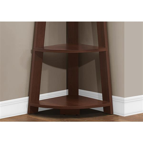 Monarch Bookcase - Corner Accent Etagere - 5-Shelve - Cherry - 72-in H