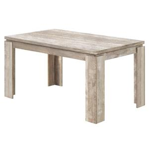 Monarch Dining Table - Taupe Reclaimed Wood Look - 36-in X 60-in
