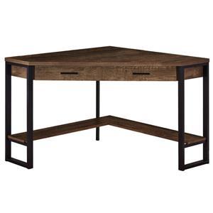Monarch Corner Computer Desk - Brown Reclaimed Wood - 42-in