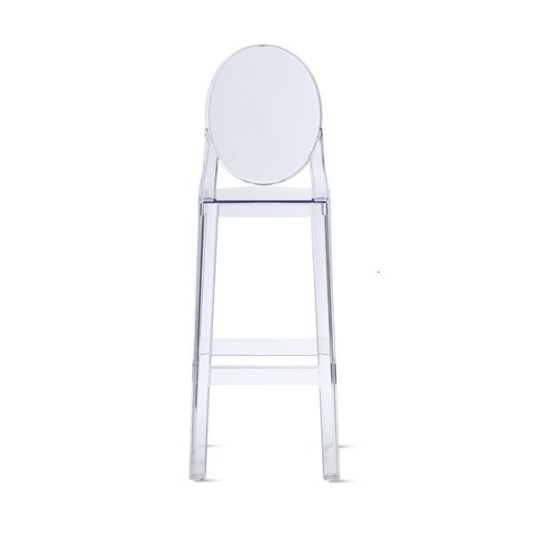 Plata Decor Transparent Ghost Bar Stool - Clear Finish - 42-in