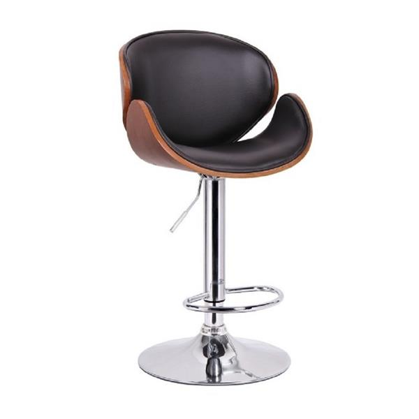 Plata Import Amy Stool, Adjustable Height - Black - 34-in
