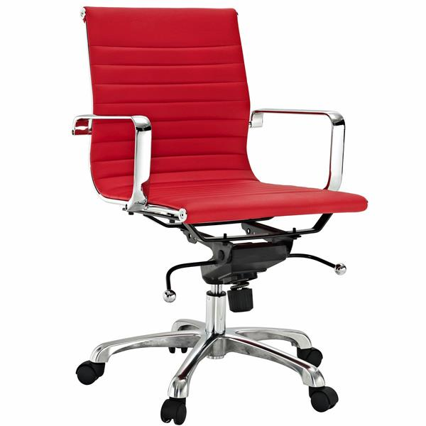 Plata Decor Toni Low Back Executive Chair - Red
