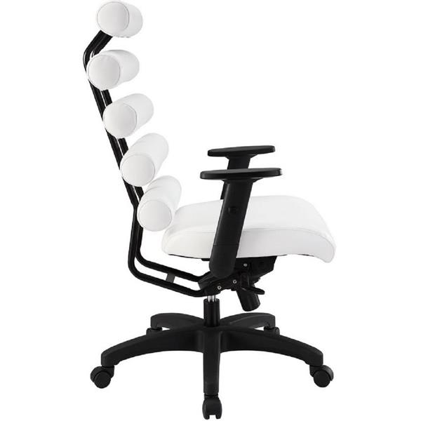 Plata Decor Moon High Back Executive Office Chair - White and Black