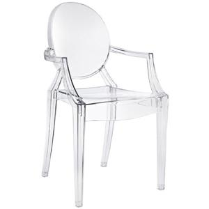 Plata Decor Ghost Side or Dining Chair - Clear