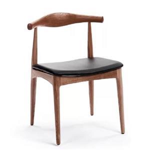 Plata Decor Atrio Armless Side Chair - Wood and Black Seat