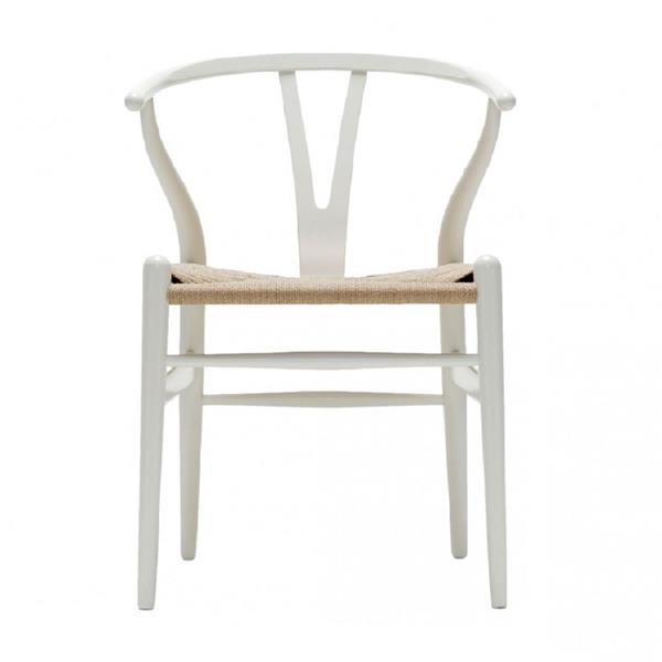 Plata Decor Woodcord Chair - White and Natural