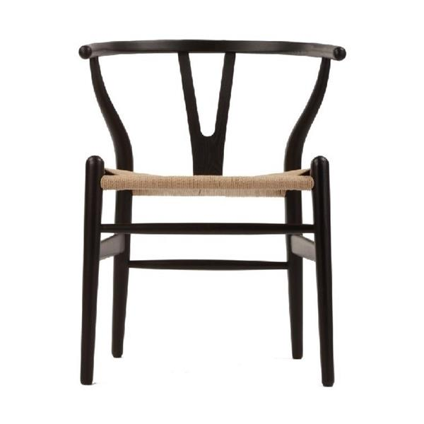 Plata Decor Woodcord Chair - Black and Natural