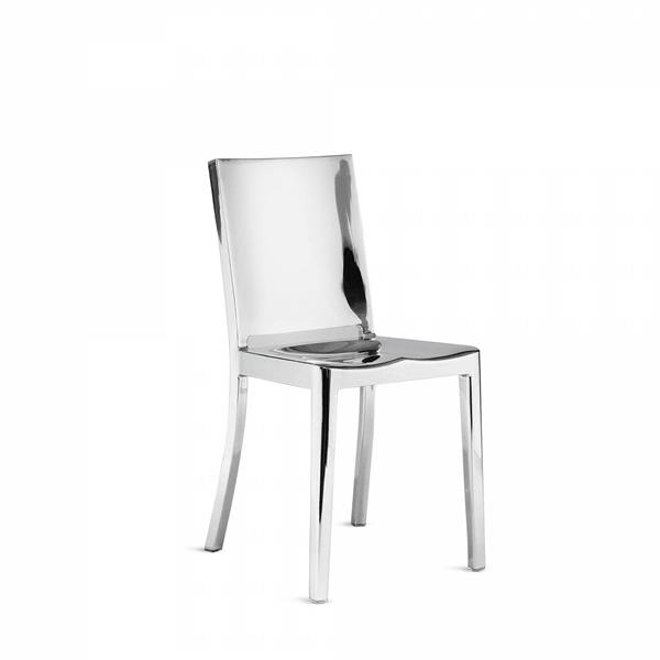 Plata Decor Bronx Dining Chair - Silver Metal
