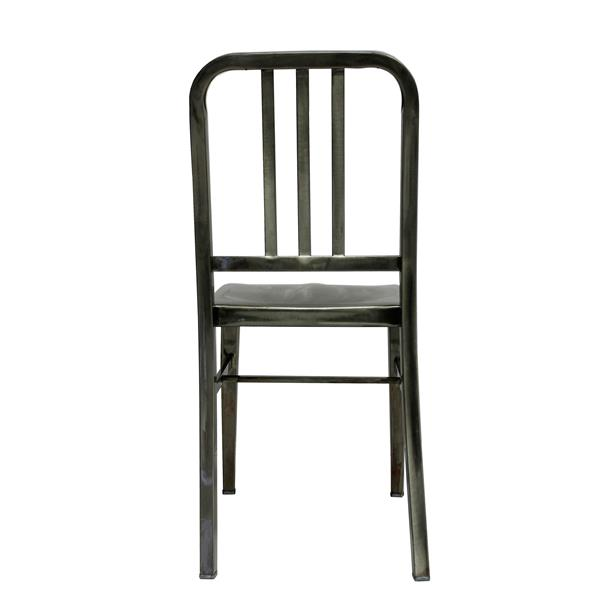 Plata Decor Navy Armless Chair - Stainless Steel