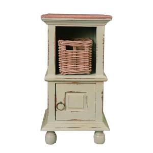 Table d'appoint Shabby Chic Cottage de Sunset Trading, 14 po x 26,5 po, vert sauge antique