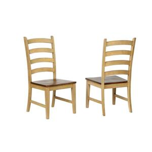 Sunset Trading Brook Dining Chair - 42-in x 20.5-in - Beige/Brown - Set of 2