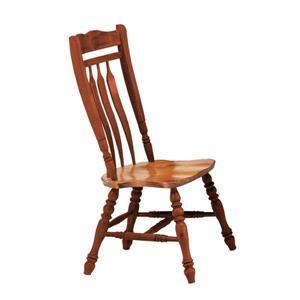 Chaise de salle à manger Oak Selections de Sunset Trading, 42 po x 20.5 po, noyer/chêne clair, ens. de 2