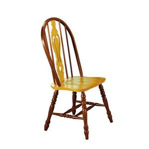 Chaise de salle à manger Oak Selections de Sunset Trading, 41 po, noyer/chêne clair, ens. de 2
