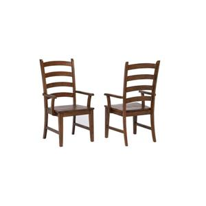 Sunset Trading Simply Brook Dining Chair - 42-in x 23-in - Brown - Set of 2