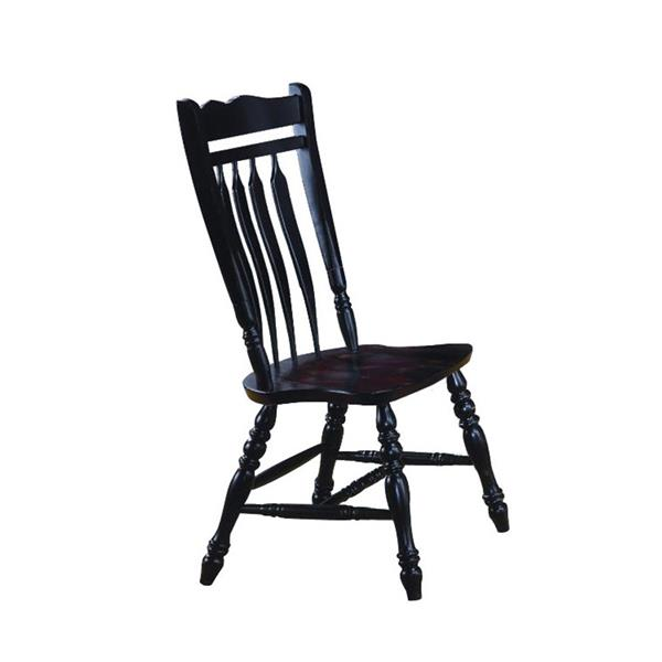 Sunset Trading Black Cherry Selections Dining Chair - 42-in x 20.5-in - Antique Black - Set of 2