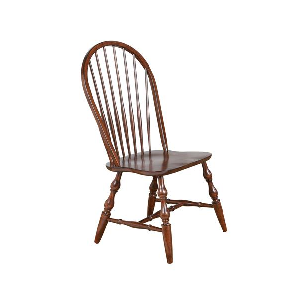 Sunset Trading Andrews Dining Chair - 41-in x 20.5-in - Brown Chestnut - Set of 2