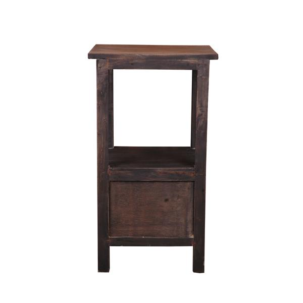 Sunset Trading Shabby Chic Cottage End Table with Drawer - 15.75-in x 28-in - Black Wash