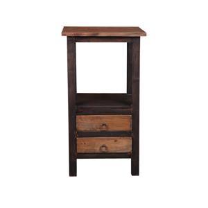 Table d'appoint Shabby Chic Cottage de Sunset Trading, 15,75 po x 28 po, noir antique