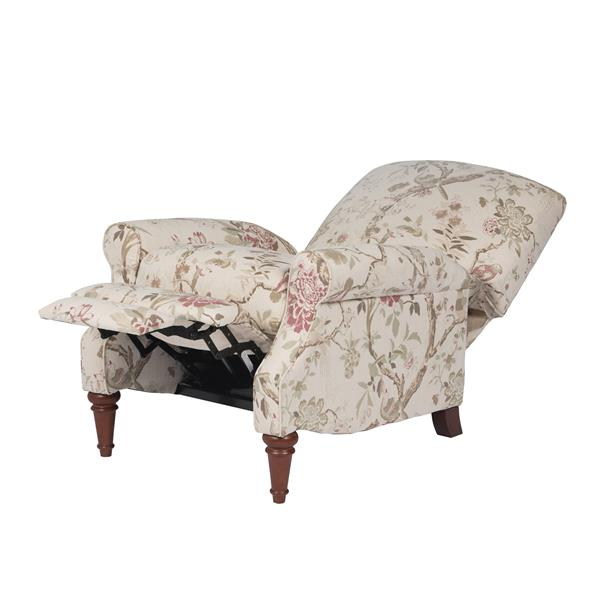 Sunset Trading Audubon Linen Recliner - 38-in x 32-in - Beige with Flowers
