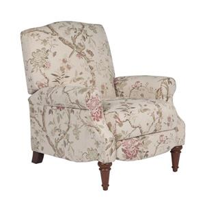 Fauteuil inclinable Sunset Trading en tissu, motif floral, 38 po x 32 po, beige