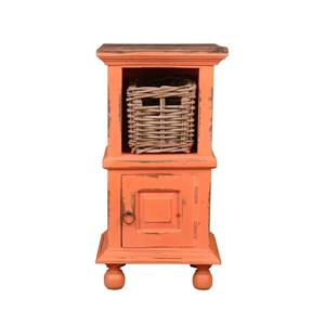 Table d'appoint Shabby Chic Cottage de Sunset Trading, 14 po x 26,5 po, corail antique