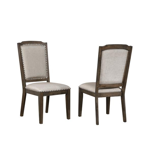 Sunset Trading Cali Dining Chair - 41-in x 20-in - Gray and Brown - Set of 2
