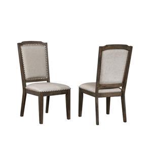 Chaise de salle à manger Cali de Sunset Trading, 41 po x 20 po, gris et marron, ens. de 2