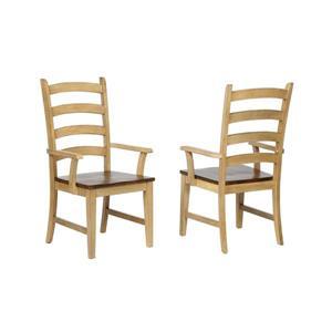 Chaise de salle à manger Brook de Sunset Trading, 42 po x 23 po, beige/brun, ens. de 2