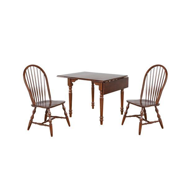 Sunset Trading Andrews Dining Set - Set of 3 - Dark Chestnut