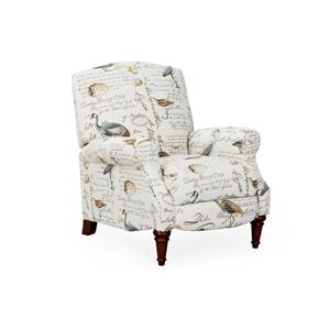 Sunset Trading Recliner - 38-in x 32-in - Bird Script Pattern - Light Beige