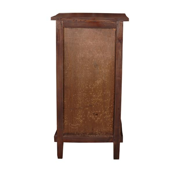 Sunset Trading Shabby Chic Cottage End Table with Drawer - 17.5-in x 30-in - Dark Wood