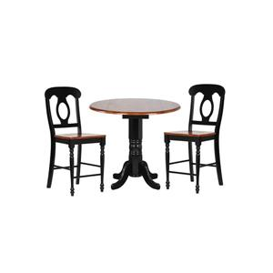 Sunset Trading Black Cherry Selections Dining Set - Set of 3 - Antique Black