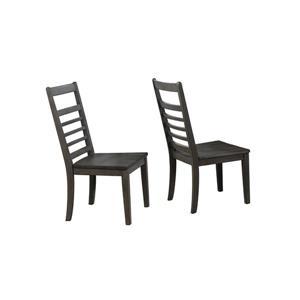 Chaise de salle à manger Shades of Grey de Sunset Trading, 40.5 po x 20 po, gris foncé, ens. de 2