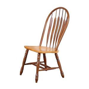 Chaise de salle à manger Oak Selections de Sunset Trading, 41 po x 20.5 po, noyer/chêne clair, ens. de 2