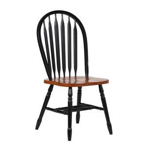 Chaise de salle à manger Black Cherry Selections de Sunset Trading, 38 po, noir antique/brun, ens. de 2