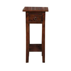 Table d'appoint Shabby Chic Cottage de Sunset Trading, 11,75 po x 25,75 po, brun lustré