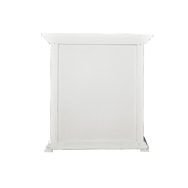 Sunset Trading Shabby Chic Cottage End Table with Drawer - 29.5-in x 31.5-in - Antique White