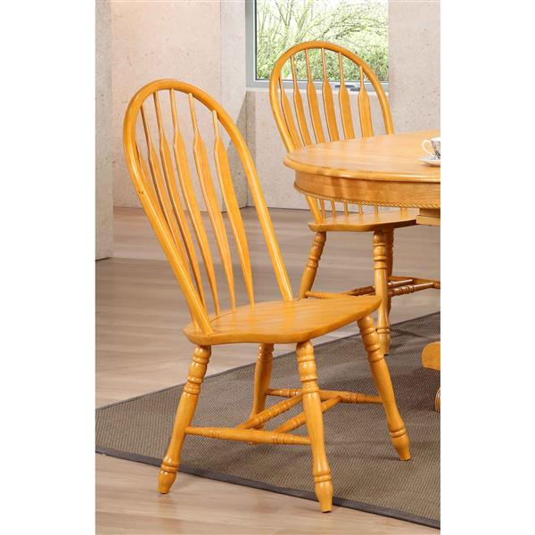 Sunset Trading Oak Selections Arrowback Dining Chair - 41-in x 20.5-in - Light Oak - Set of 2