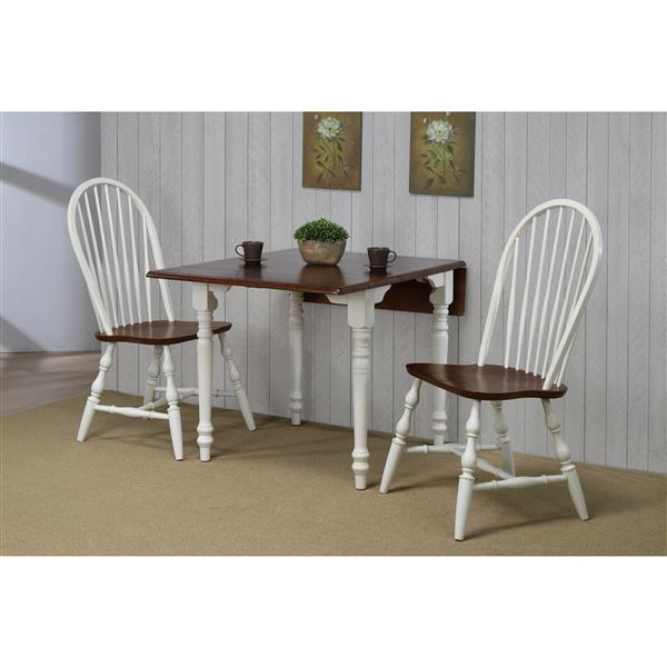 Sunset Trading Andrews Dining Set - Set of 3 - Antique White