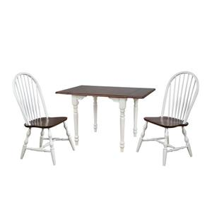 Sunset Trading Andrews Dining Set - Set of 3 - Antique White