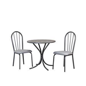 Ensemble de salla à manger Sunset Trading Steel Grey, 3 pièces, gris