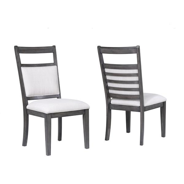 Sunset Trading Shades of Grey Dining Chair - 40.5-in x 19.25-in - Grey - Set of 2