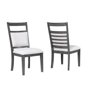 Chaise de salle à manger Shades of Grey de Sunset Trading, 40.5 po x 19.25 po, gris lustré, ens. de 2