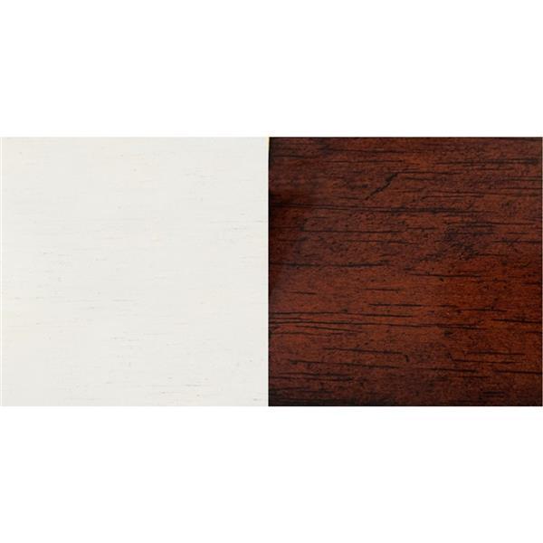Chaise de salle à manger Andrews de Sunset Trading, 41 po x 20.5 po, blanc antique/brun, ens. de 2