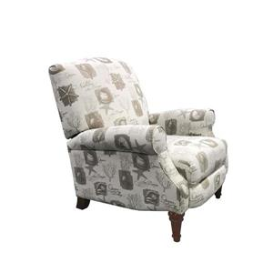 Sunset Trading Reclining Chair - Shell Scirpt Pattern - 38-in x 32-in - Beige